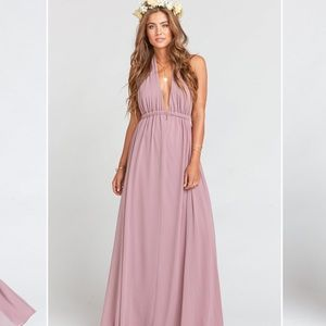 Luna Halter Dress in Antique Rose